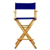 "30"" Director's Chair Natural Frame-Royal Blue Canvas"