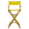 """30"""" Director's Chair Natural Frame-Yellow Canvas"""