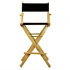 "30"" Director's Chair Natural Frame-Black Canvas"