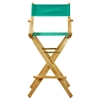 "30"" Director's Chair Natural Frame-Teal Canvas"