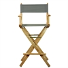 """30"""" Director's Chair Natural Frame-Gray Canvas"""