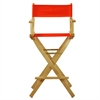 "30"" Director's Chair Natural Frame-Orange Canvas"