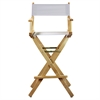 "30"" Director's Chair Natural Frame-White Canvas"