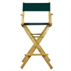 "30"" Director's Chair Natural Frame-Hunter Green Canvas"