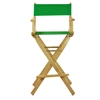 """30"""" Director's Chair Natural Frame-Green Canvas"""