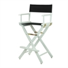 "30"" Director's Chair White Frame-Black Canvas"