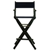 "30"" Director's Chair Black Frame-Navy Blue Canvas"