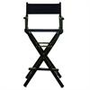 "30"" Director's Chair Black Frame-Navy Blue Canvas"