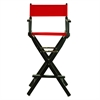 "30"" Director's Chair Black Frame-Red Canvas"