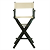 "30"" Director's Chair Black Frame-Natural/Wheat Canvas"