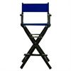 "30"" Director's Chair Black Frame-Royal Blue Canvas"