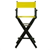 "30"" Director's Chair Black Frame-Yellow Canvas"
