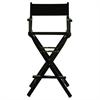 "30"" Director's Chair Black Frame-Black Canvas"