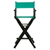 "30"" Director's Chair Black Frame-Teal Canvas"