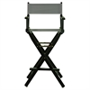 "30"" Director's Chair Black Frame-Gray Canvas"