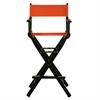 "30"" Director's Chair Black Frame-Orange Canvas"
