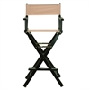 "30"" Director's Chair Black Frame-Tan Canvas"