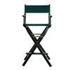 "30"" Director's Chair Black Frame-Hunter Green Canvas"