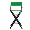 "30"" Director's Chair Black Frame-Green Canvas"
