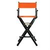 "30"" Director's Chair Black Frame-Tangerine Canvas"