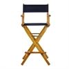 "30"" Director's Chair Honey Oak Frame-Navy Blue Canvas"