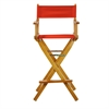 "30"" Director's Chair Honey Oak Frame-Red Canvas"