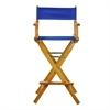 "30"" Director's Chair Honey Oak Frame-Royal Blue Canvas"