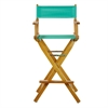 "30"" Director's Chair Honey Oak Frame-Teal Canvas"