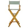 "30"" Director's Chair Honey Oak Frame-Gray Canvas"
