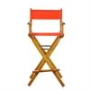 "30"" Director's Chair Honey Oak Frame-Orange Canvas"