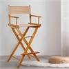 "30"" Director's Chair Honey Oak Frame-Tan Canvas"
