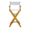 "30"" Director's Chair Honey Oak Frame-White Canvas"