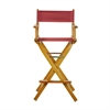 "30"" Director's Chair Honey Oak Frame-Burgundy Canvas"