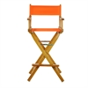 "30"" Director's Chair Honey Oak Frame- Tangerine Canvas"