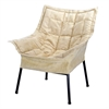 Milano Metal Chair Metal Frame- Black with Beige Outer Cover