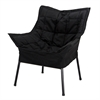 Milano Metal Chair Metal Frame- Black with Black Outer Cover