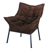 Milano Metal Chair Metal Frame- Black with Brown Outer Cover