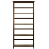 Mission Style 5-Shelf  Bookcase-Walnut