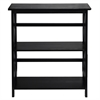 Montego 3-Shelf Bookcase-Black