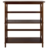 Montego 3-Shelf Bookcase-Walnut