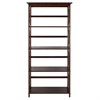 Montego 5-Shelf Bookcase-Walnut