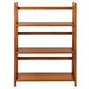 "3-Shelf Folding Stackable Bookcase 27.5"" Wide-Honey Oak"