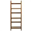 """3-Shelf Folding Bookcase 14"""" Wide-Honey Oak"""