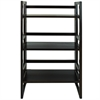 "3-Shelf Folding Student Bookcase 20.75"" Wide-Espresso"