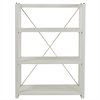 Citiscape 3-Shelf Folding/Stacking Bookcase-White