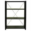 Citiscape 3-Shelf Folding/Stacking Bookcase-Black