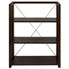 Citiscape 3-Shelf Folding/Stacking Bookcase-Warm Brown