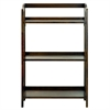 Stratford 3-Shelf Folding Bookcase-Warm Brown
