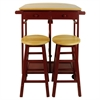 Breakfast Cart with Drop-Leaf Table-Red