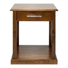 Bay View End Table-Warm Brown